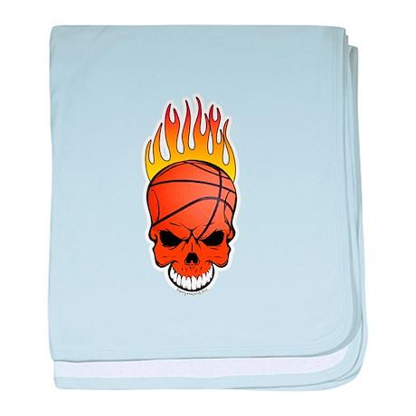 Skull Basketball Infant Blanket