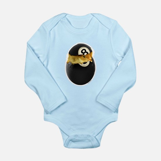 Billiards Chick Long Sleeve Infant Bodysuit