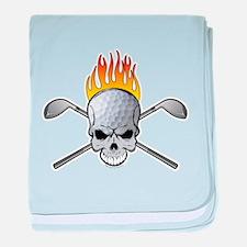 Skull Golf Infant Blanket