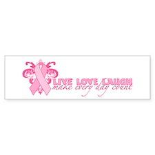 Everyday Pink Ribbon Bumper Sticker