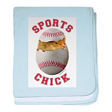 Softball Chick 3 Infant Blanket
