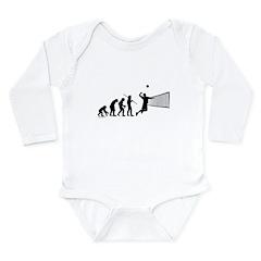Volleyball Evolution Long Sleeve Infant Bodysuit