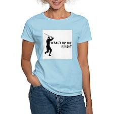 what's up my ninja? Women's Pink T-Shirt
