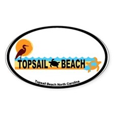 Topsail Beach NC - Beach Design Decal