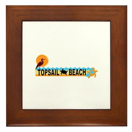 Topsail Beach NC - Beach Design Framed Tile