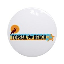 Topsail Beach NC - Beach Design Ornament (Round)