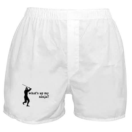 what's up my ninja? Boxer Shorts
