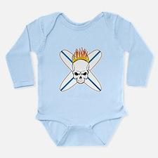 Surf Skull Long Sleeve Infant Bodysuit