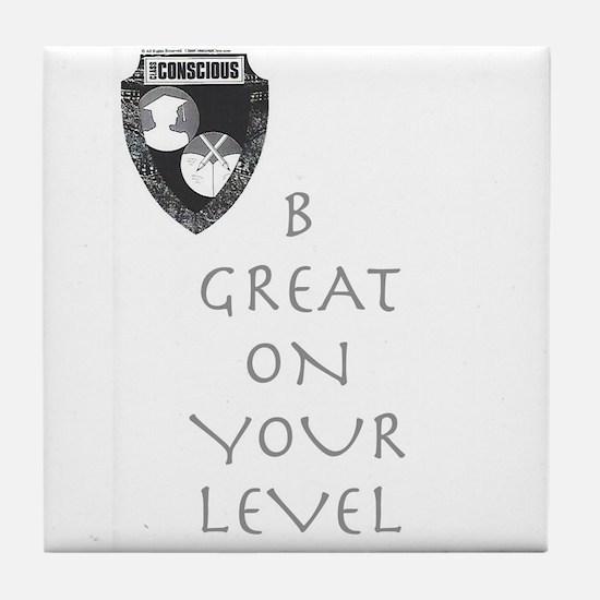 B Great Tile Coaster