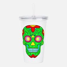 Colourful skull Acrylic Double-wall Tumbler
