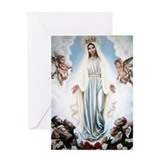 Funny Angels.mary Greeting Card