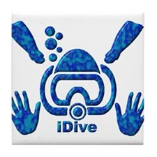 iDive Blue Sea 2010 Tile Coaster