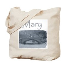Personalized Horse Winter Pirouette Tote Bag -Mary