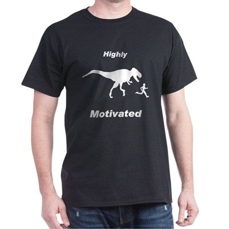 Motivation T Rex and Running Dark T-Shirt