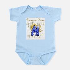 Gold~N~Blue Unicorn Infant Bodysuit