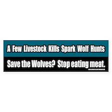 Save The Wolves Vegetarian Bumper Bumper Sticker