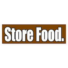 Store Food Bumper Bumper Sticker