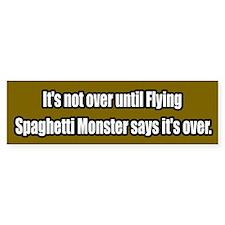 Flying Spaghetti Monster Bumper Bumper Sticker