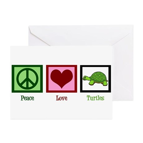 Peace Love Turtles Greeting Cards (Pk of 10)