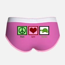 Peace Love Turtles Women's Boy Brief
