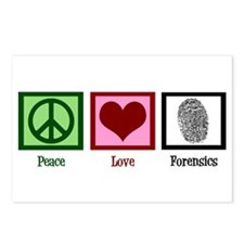 Peace Love Forensics Postcards (Package of 8)