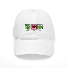 Peace Love Frogs Baseball Baseball Cap