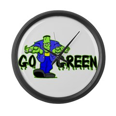 Go Green Frankensteing Body Large Wall Clock