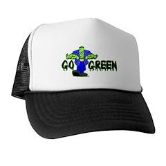 Go Green Frankensteing Body Trucker Hat