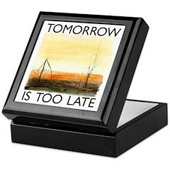 Tomorrow Is Too Late Keepsake Box