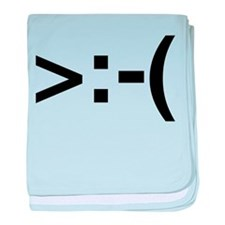 Angry Emoticon Infant Blanket