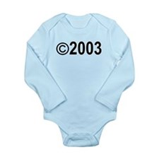 Copyright 2003 Long Sleeve Infant Bodysuit