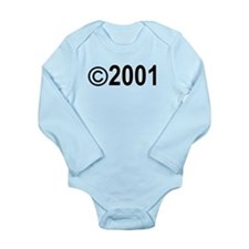 Copyright 2001 Long Sleeve Infant Bodysuit