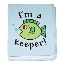 I'm a Keeper! (Fish) Infant Blanket