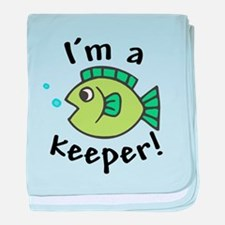 I'm a Keeper! (Fish) Infant Blanket