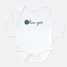 Olive You Long Sleeve Infant Bodysuit