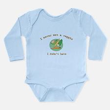 I Hate Veggies Long Sleeve Infant Bodysuit