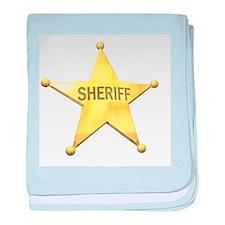 Sheriff Badge Infant Blanket
