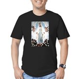 Blessed virgin mary Fitted T-shirts (Dark)