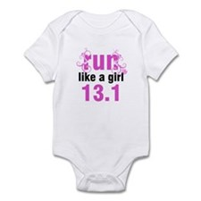 run like a girl 13.1 Infant Bodysuit