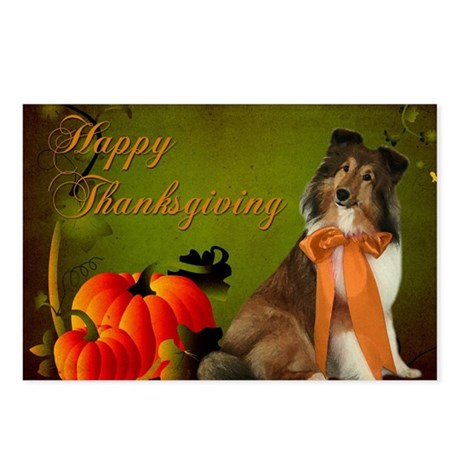 Thanksgiving Gracie Postcards (Package of 8)