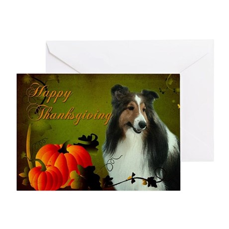 Thanksgiving Sheltie Card