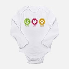 Peace - Love - Dogs 1 Long Sleeve Infant Bodysuit
