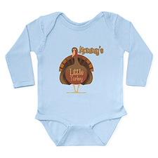 Mommy's Little Turkey Long Sleeve Infant Bodysuit