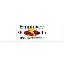 USS Enterprise Employee of th Bumper Sticker