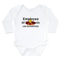 USS Enterprise Employee of th Long Sleeve Infant B