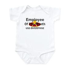 USS Enterprise Employee of th Infant Bodysuit