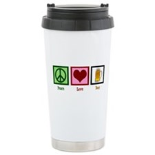 Peace Love Beer Travel Mug
