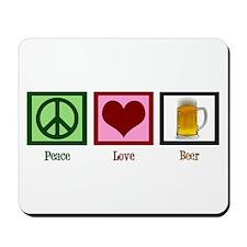 Peace Love Beer Mousepad