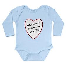 My Heart Belongs to My Tia Long Sleeve Infant Body