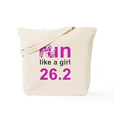 run like a girl 26.2 Tote Bag
